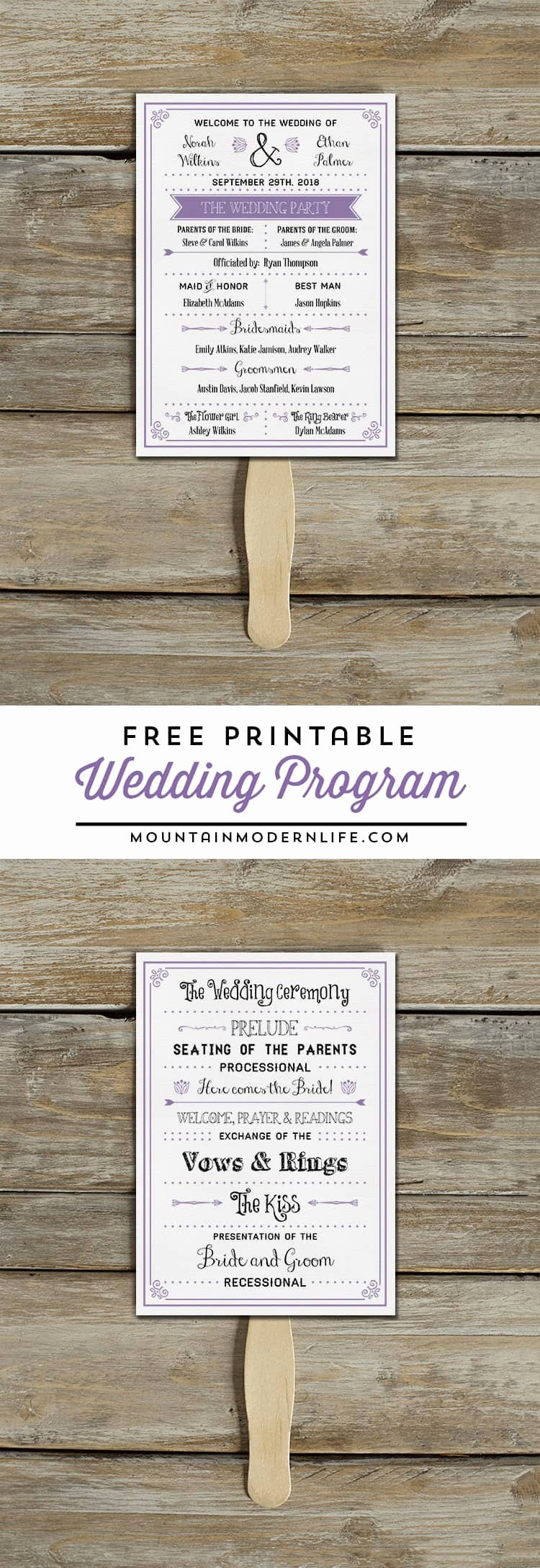 Free Wedding Ceremony Program Template Fresh Free Printable Wedding Program