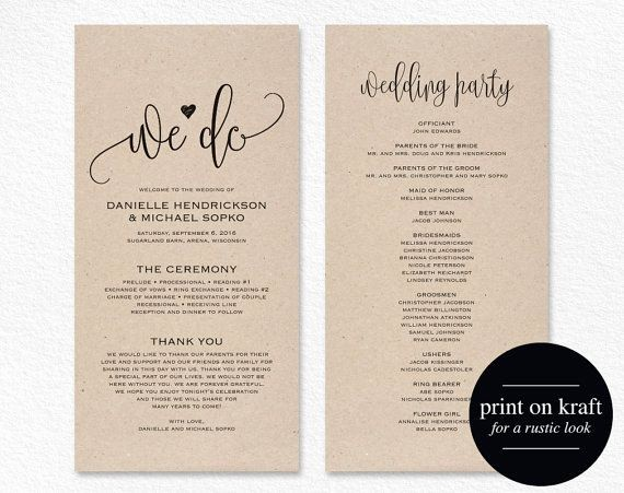 Free Wedding Ceremony Program Template Inspirational Best 25 Wedding Program Templates Ideas On Pinterest