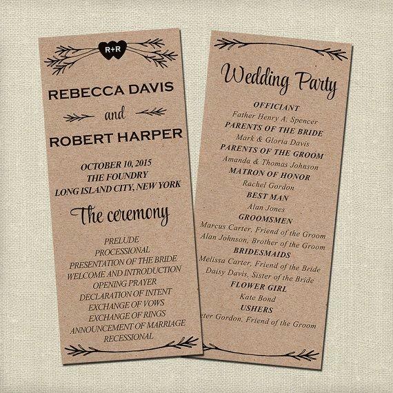 Free Wedding Ceremony Program Template Inspirational Best 25 Wedding Program Templates Ideas On Pinterest