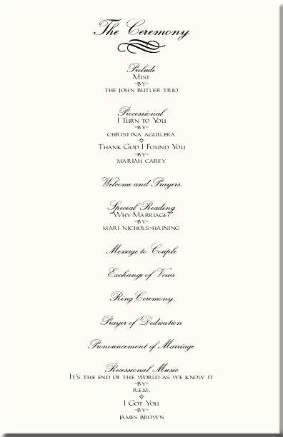 Free Wedding Ceremony Program Template Inspirational Wedding Ceremony Programs