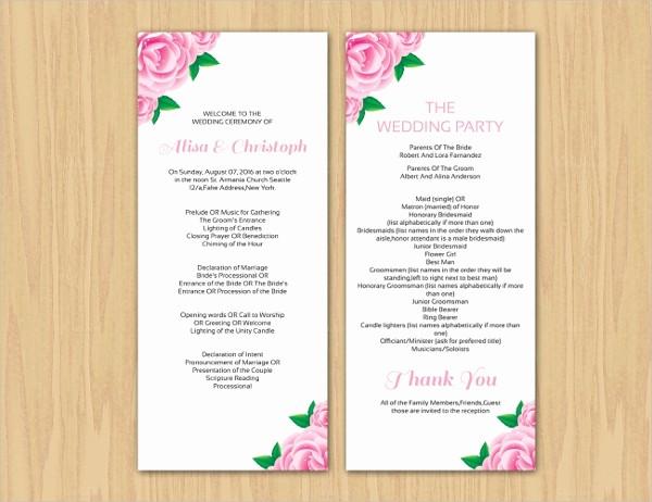 Free Wedding Ceremony Program Template Lovely 17 Wedding Program Template