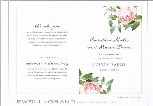 Free Wedding Ceremony Program Template Lovely Free Printable Wedding Program Templates Word