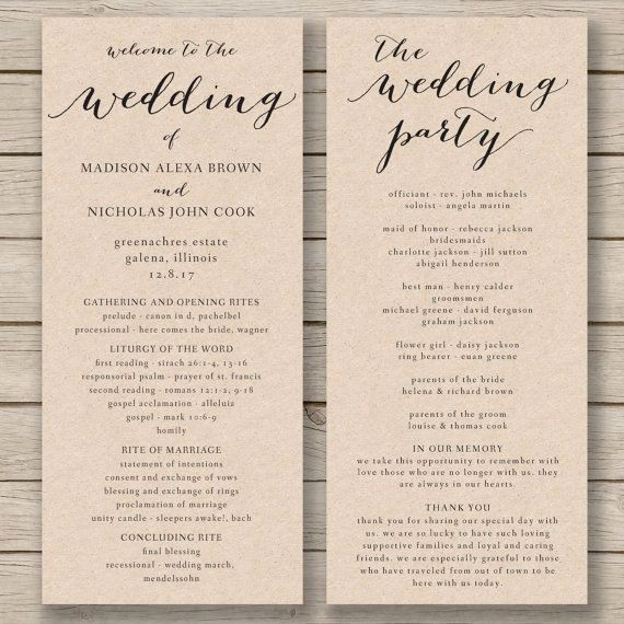 Free Wedding Ceremony Program Template Lovely Wedding Program Template Printable by Hopestreetprintables