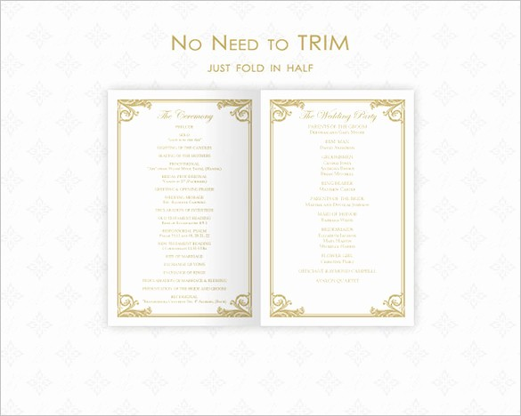 Free Wedding Ceremony Program Template Luxury 26 Wedding Ceremony Program Templates Psd Ai Indesign