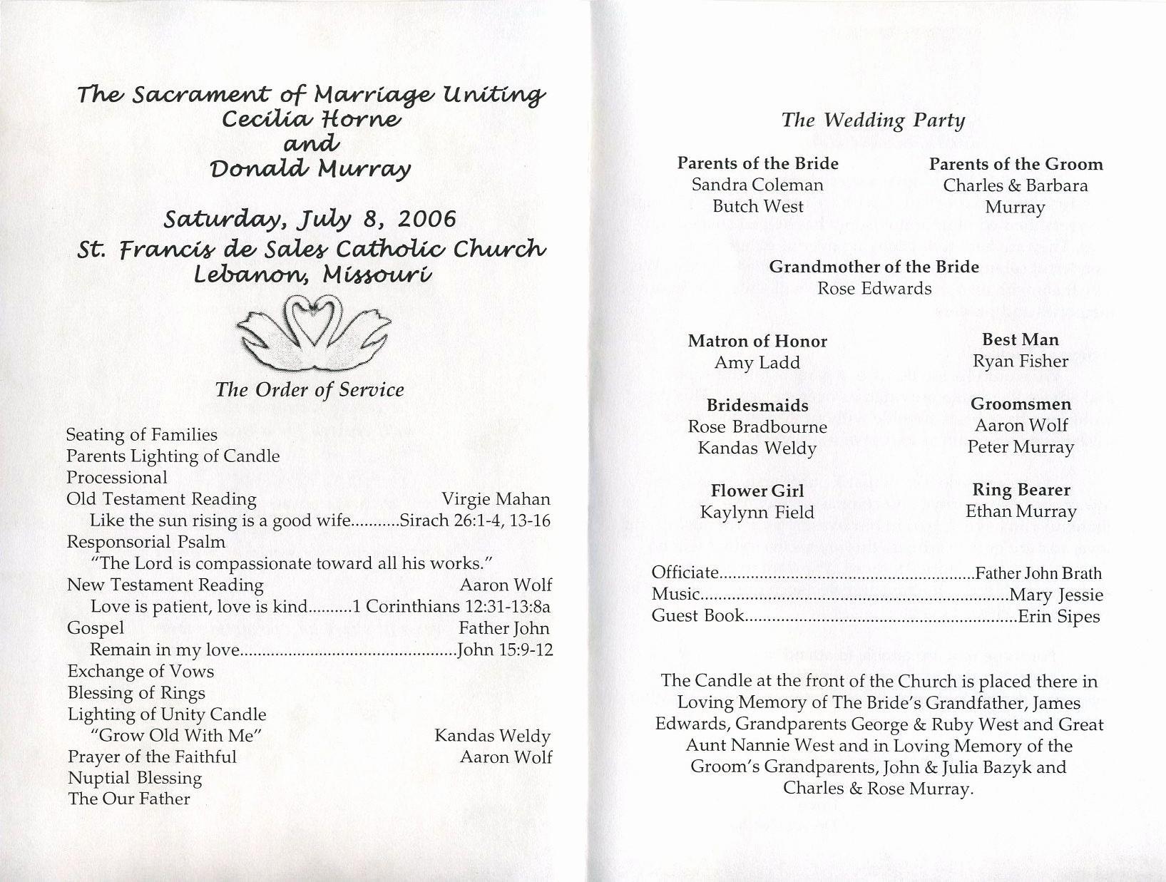 Free Wedding Ceremony Program Template New Free Printable Wedding Programs Templates