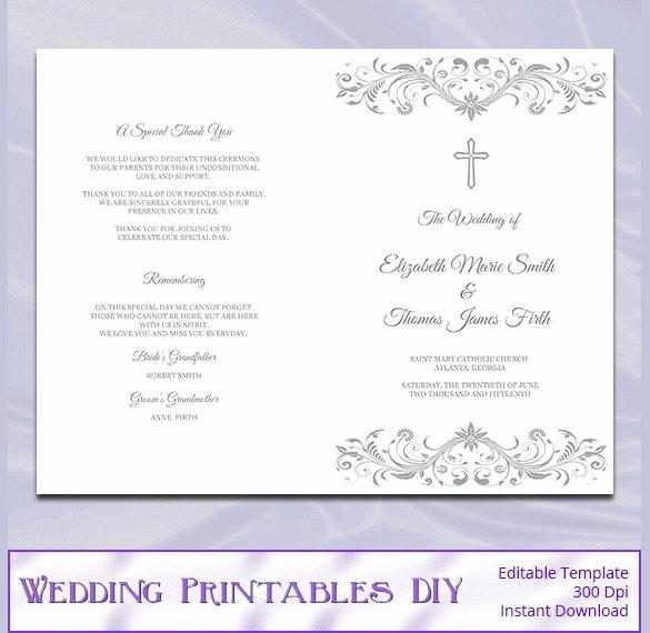 Free Wedding Program Template Downloads Awesome 67 Wedding Program Template Free Word Pdf Psd