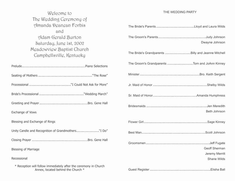 Free Wedding Program Template Downloads Awesome Wedding Program Templates Wedding Programs Fast