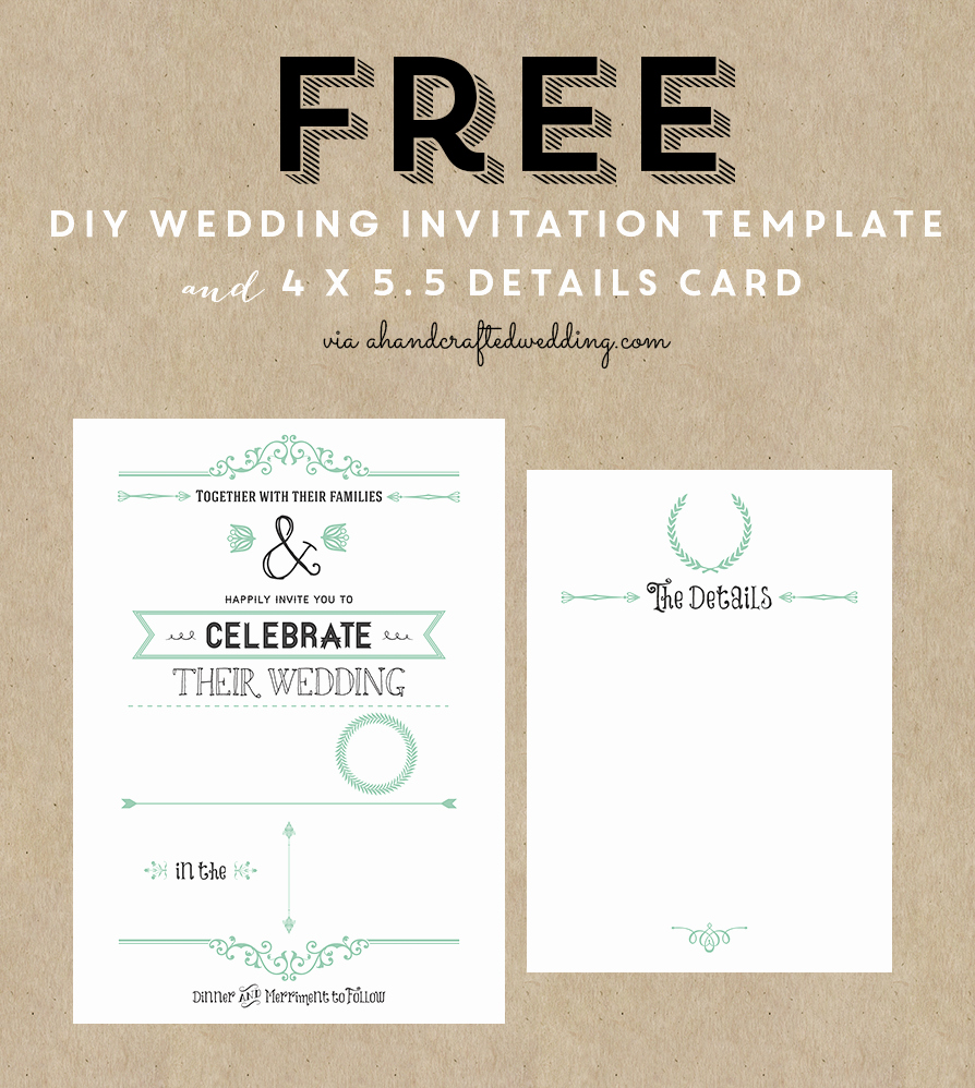 post wedding program template free printable card