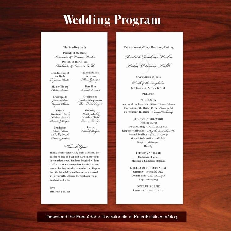 Free Wedding Program Template Downloads Beautiful Catholic Wedding Program Template Free Beepmunk