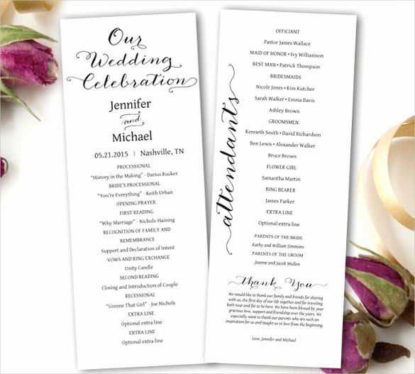 Free Wedding Program Template Downloads Elegant Wedding Ceremony Program Template 36 Word Pdf Psd