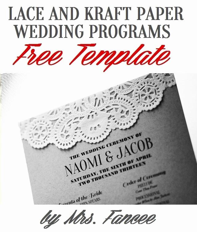 Free Wedding Program Template Downloads Fresh Wedding Program Template Mrs Fancee