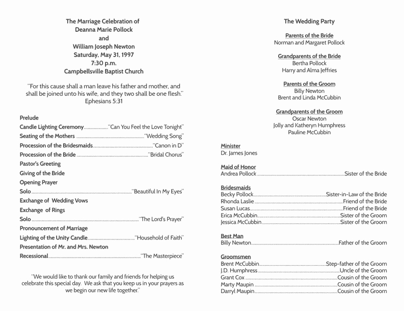 Free Wedding Program Template Downloads Fresh Wedding Program Templates Wedding Programs Fast