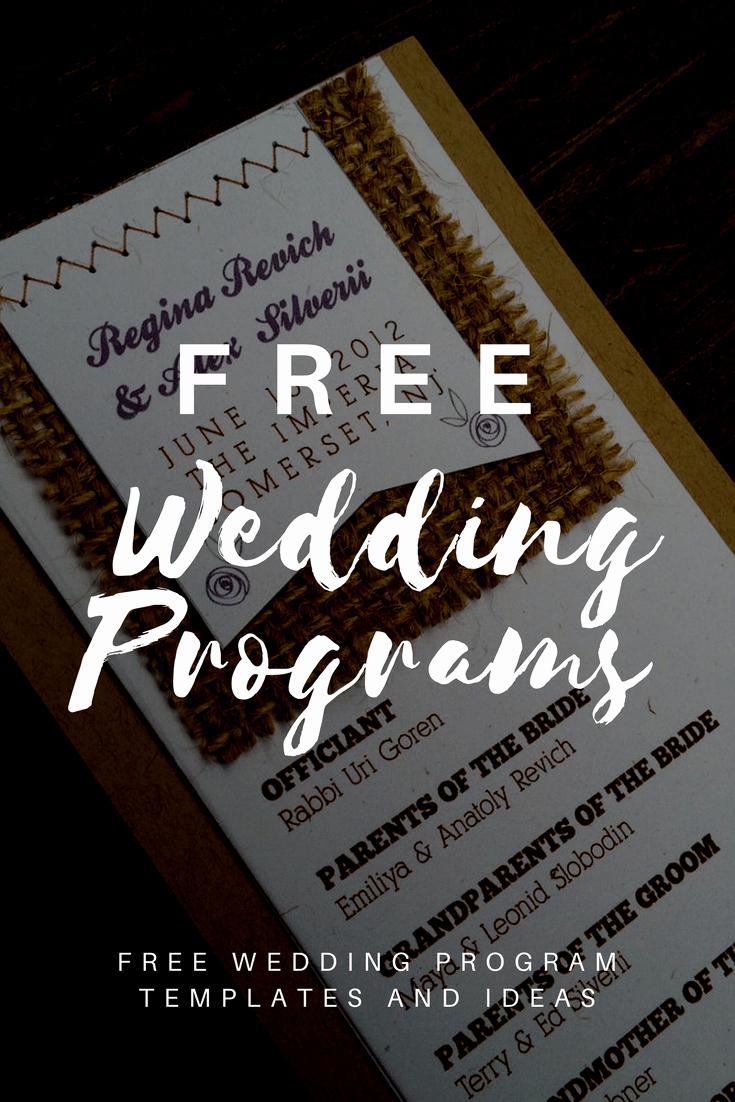 Free Wedding Program Template Downloads Inspirational Free Wedding Program Templates