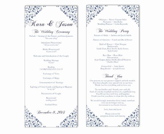 Free Wedding Program Template Downloads Inspirational Wedding Program Template Word