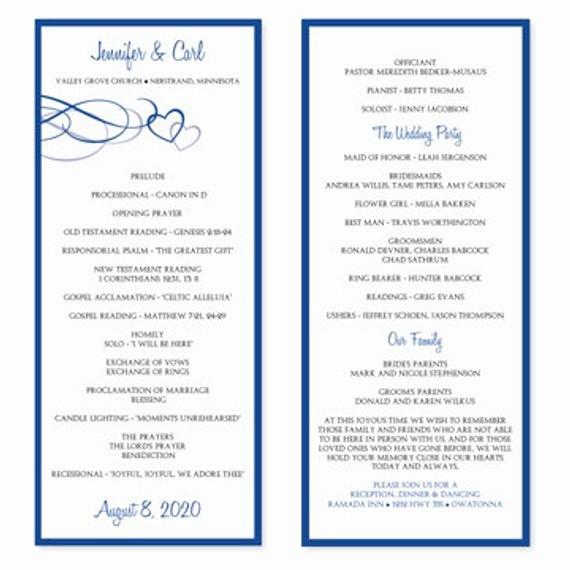 Free Wedding Program Template Downloads Lovely Wedding Program Template Download Instantly by Karmakweddings