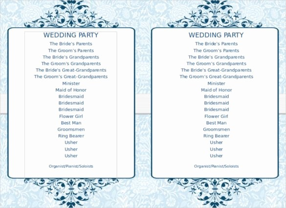 Free Wedding Program Template Downloads Luxury 67 Wedding Program Template Free Word Pdf Psd