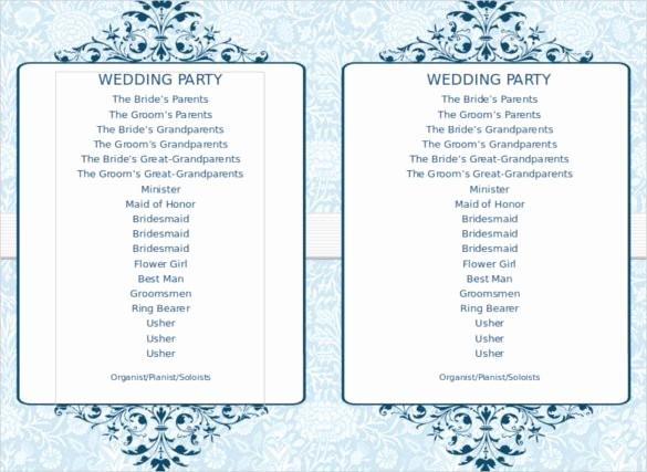 Free Wedding Program Template Downloads Luxury 67 Wedding Program Template Free Word Pdf Psd