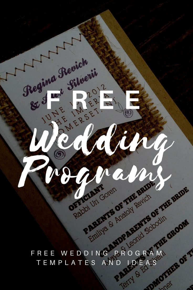 Free Wedding Program Template Downloads Luxury Best 25 Wedding Program Templates Ideas On Pinterest