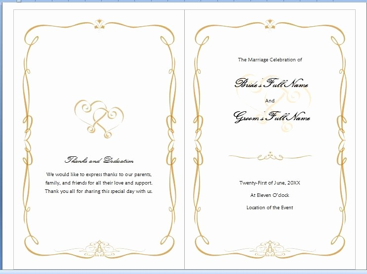 Free Wedding Program Template Downloads Luxury Microsoft Word Program Template Invitation Template