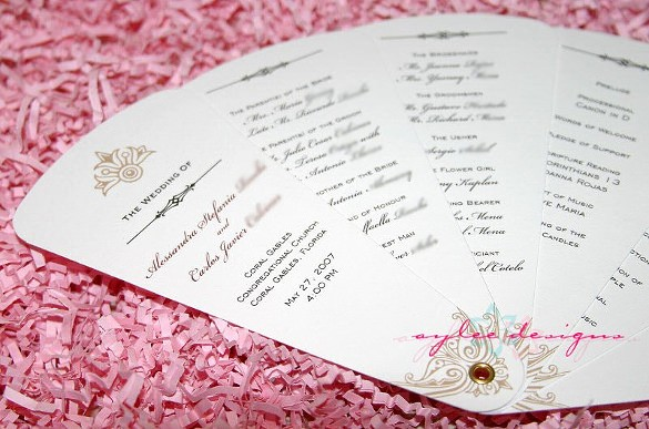 Free Wedding Program Template Downloads Luxury Wedding Program Template 41 Free Word Pdf Psd