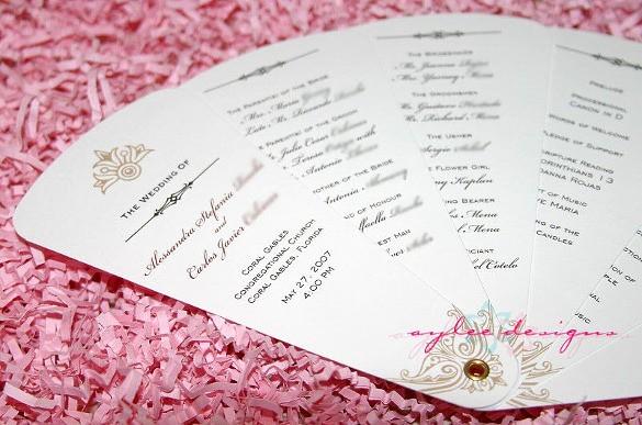 Free Wedding Program Template Downloads Luxury Wedding Program Template 41 Free Word Pdf Psd