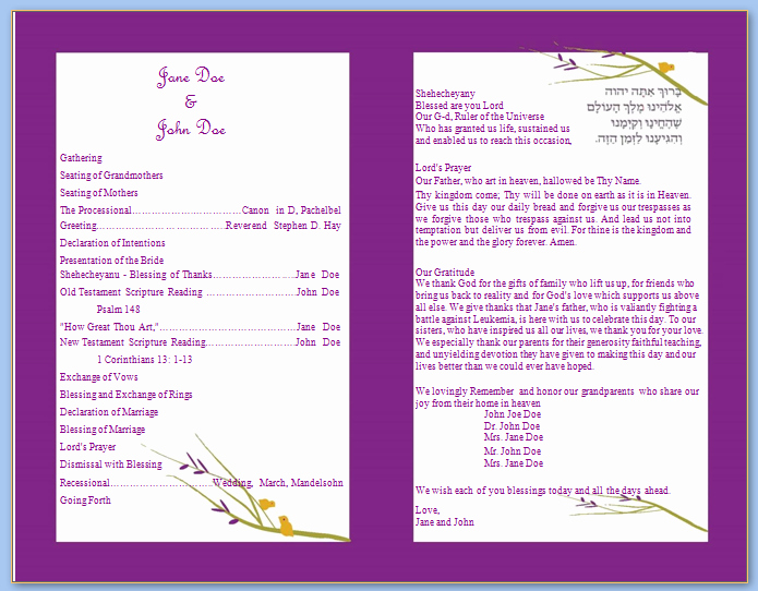 Free Wedding Program Template Downloads New 6 Best Of Wedding Program Templates Catholic