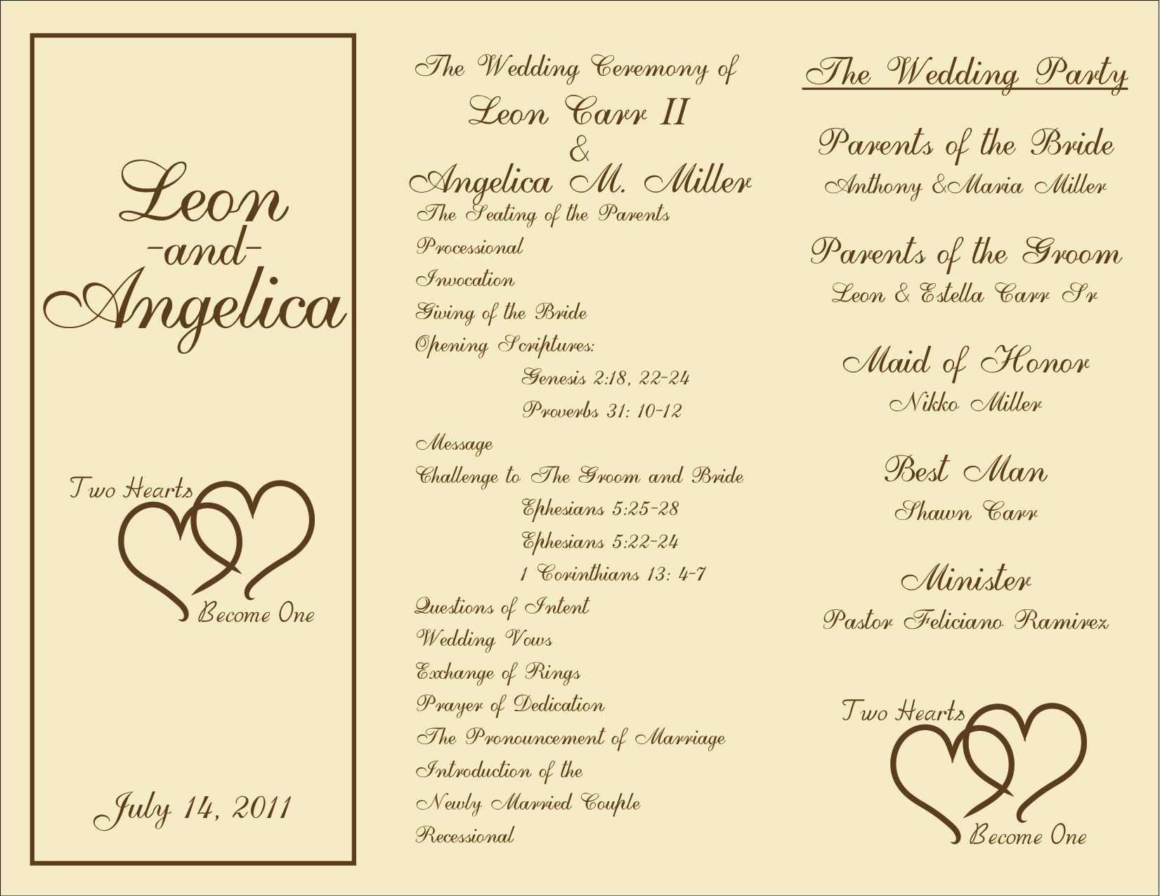 Free Wedding Program Template Downloads New Free Printable Wedding Programs Templates