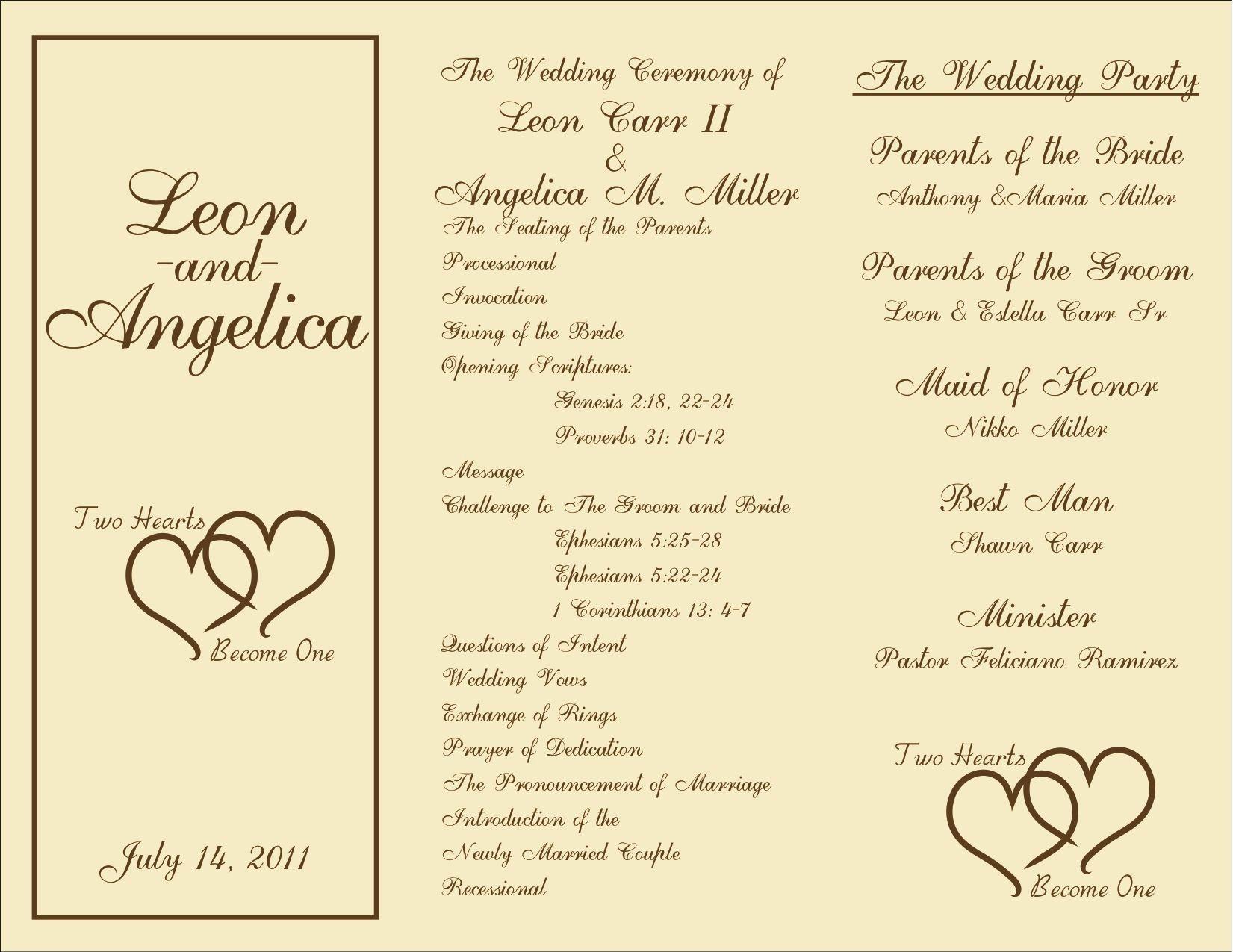 Free Wedding Program Template Downloads New Free Printable Wedding Programs Templates