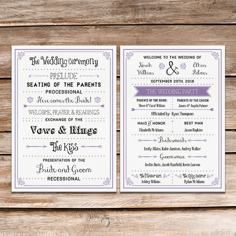 Free Wedding Program Template Downloads Unique A Round Up Of Free Wedding Fan Programs B Lovely events