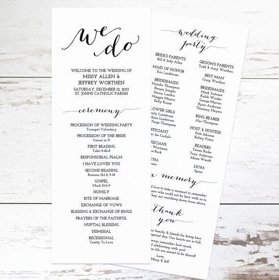 Free Wedding Program Template Downloads Unique Free Wedding Program Templates