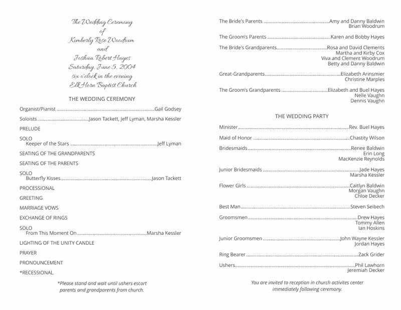 Free Wedding Program Template Downloads Unique Wedding Program Templates Wedding Programs Fast