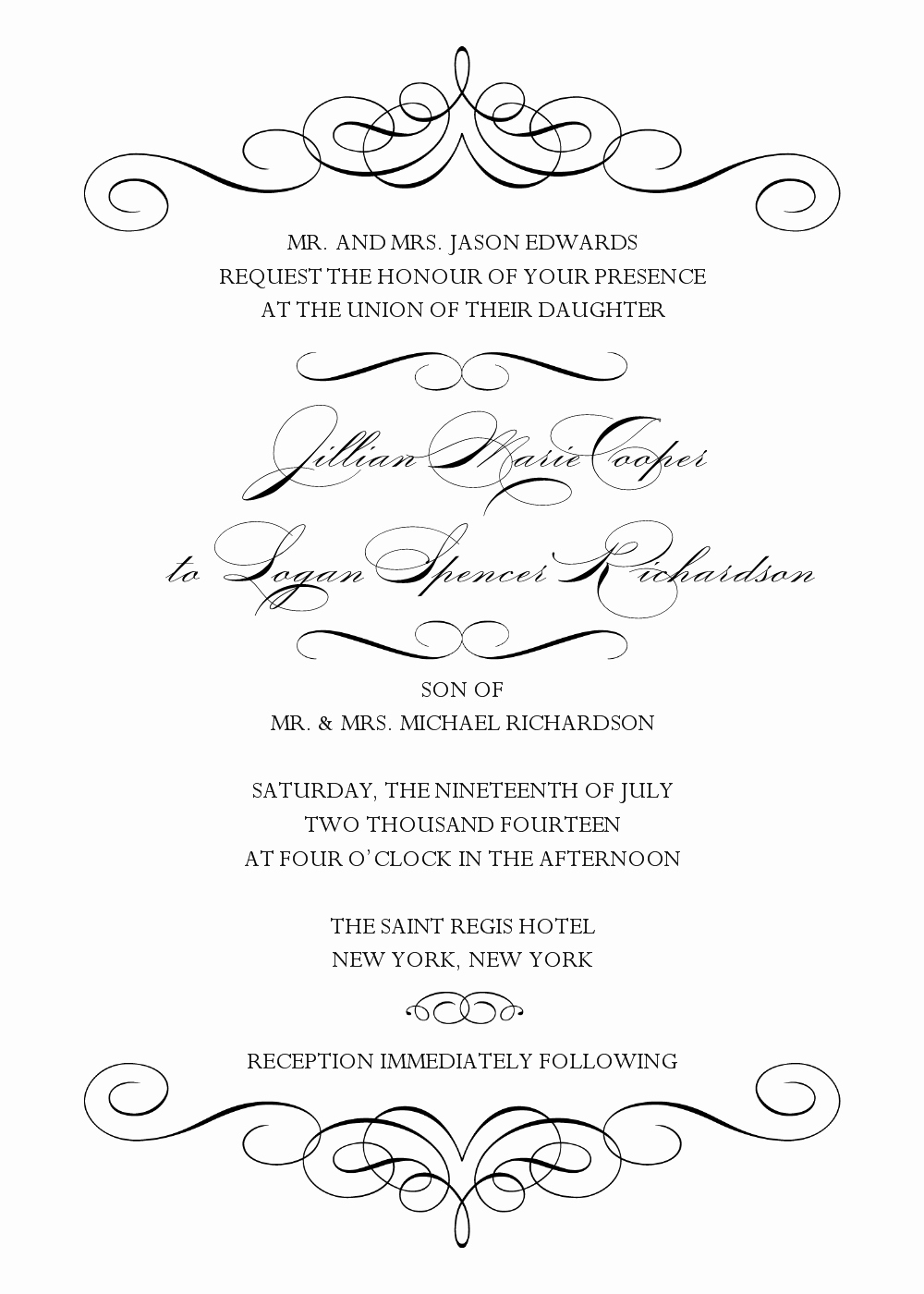 Free Wedding Templates Microsoft Word Best Of 5 Best Of Black and White Wedding Invitation
