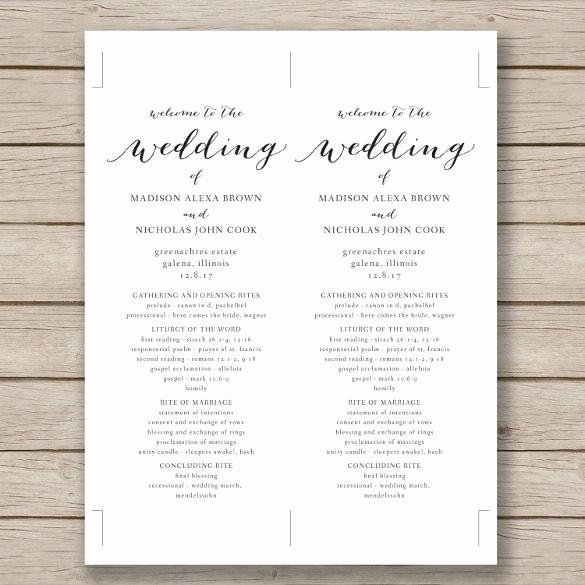 Free Wedding Templates Microsoft Word Elegant 67 Wedding Program Template Free Word Pdf Psd