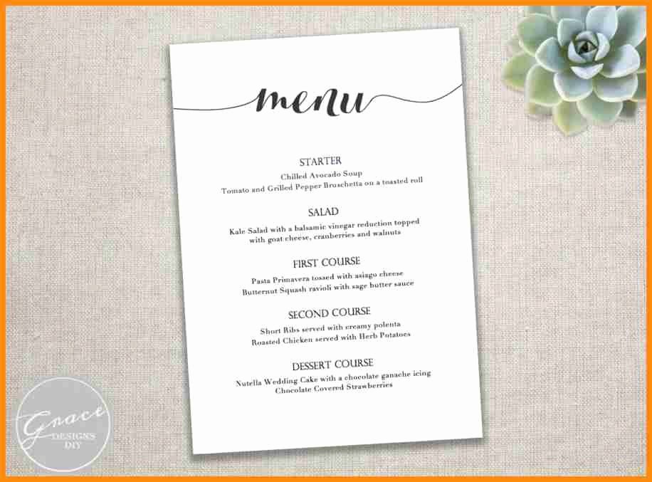 Free Wedding Templates Microsoft Word Elegant Free Wedding Menu Templates for Microsoft Word 8 Free Menu