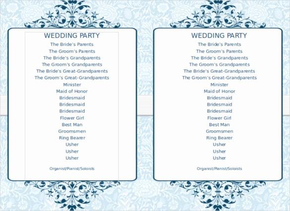 Free Wedding Templates Microsoft Word Lovely Free Wedding Program Template Downloads Word Invitation