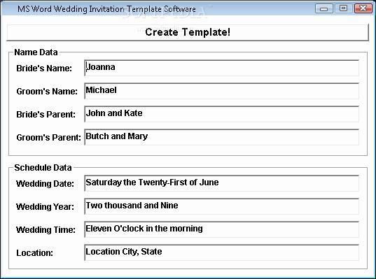 Free Wedding Templates Microsoft Word Luxury Ms Word Wedding Invitation Template software Download