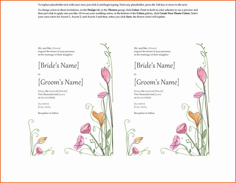 Free Wedding Templates Microsoft Word New 4 Wedding Invitations Templates Word Bookletemplate