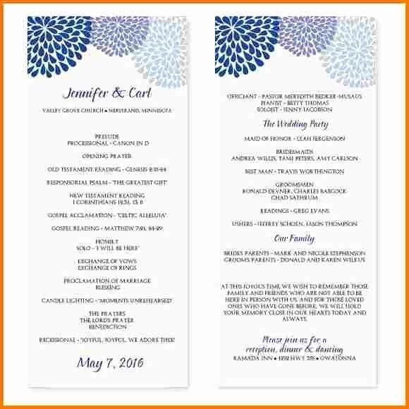 Free Wedding Templates Microsoft Word Unique Wedding Program Template Microsoft Word
