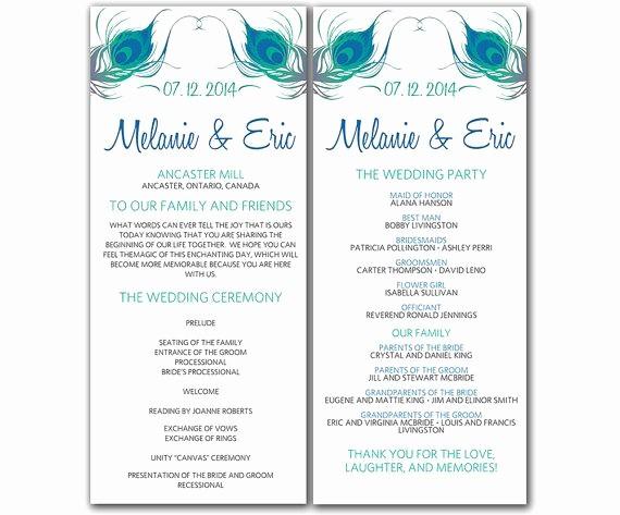 Free Wedding Templates Microsoft Word Unique Wedding Program Template Word