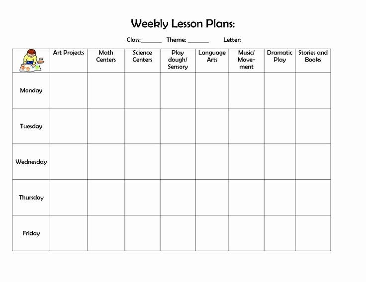 Free Weekly Lesson Plan Template Awesome Best 25 Preschool Lesson Plan Template Ideas On Pinterest