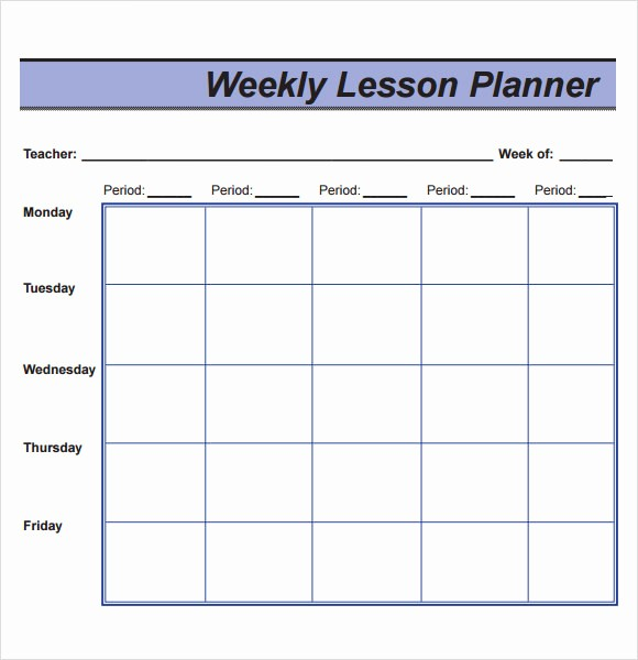 Free Weekly Lesson Plan Template Best Of 10 Sample Lesson Plans