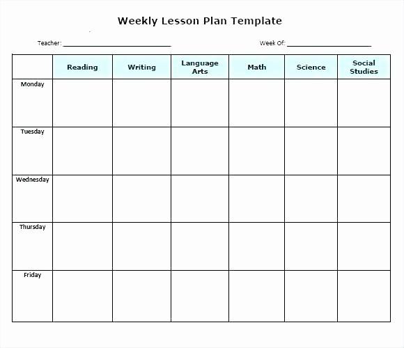 Free Weekly Lesson Plan Template Elegant Free Editable Weekly Lesson Plan Template – Lesson Plan