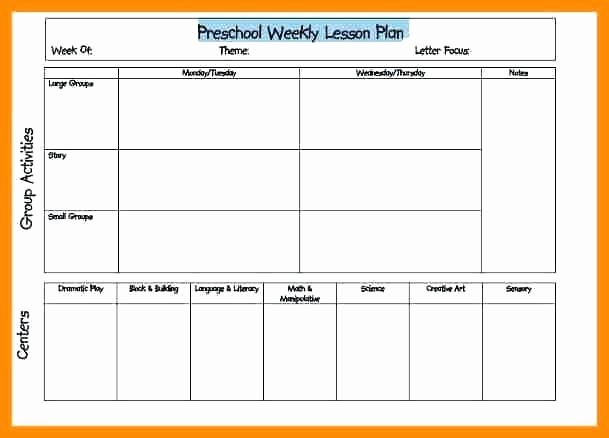 Free Weekly Lesson Plan Template Luxury Editable Weekly Lesson Plan Template Pdf Preschool Word