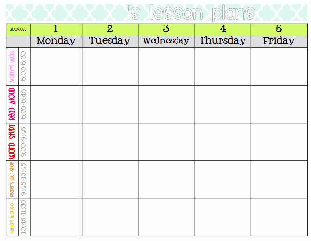 Free Weekly Lesson Plan Template Luxury Elementary organization Two Updated Lesson Plan Templates