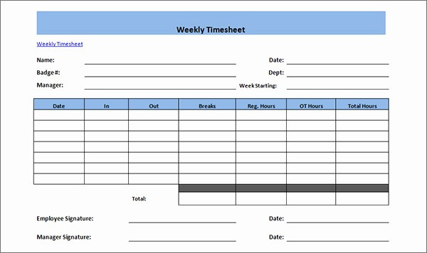 Free Weekly Time Card Template Elegant 15 Time Card Calculator Templates