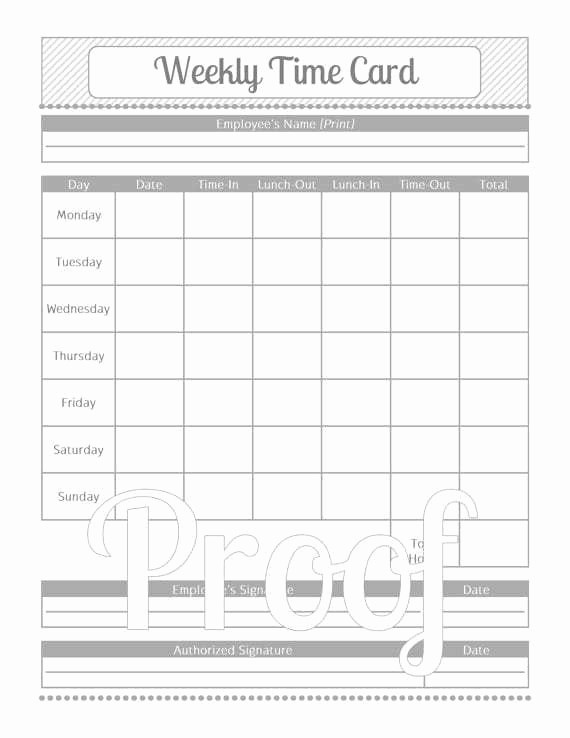 Free Weekly Time Card Template Inspirational Timecard Templates Excel Find Word Templates