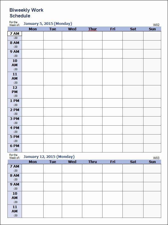 Free Weekly Work Schedule Template New 35 Sample Weekly Schedule Templates