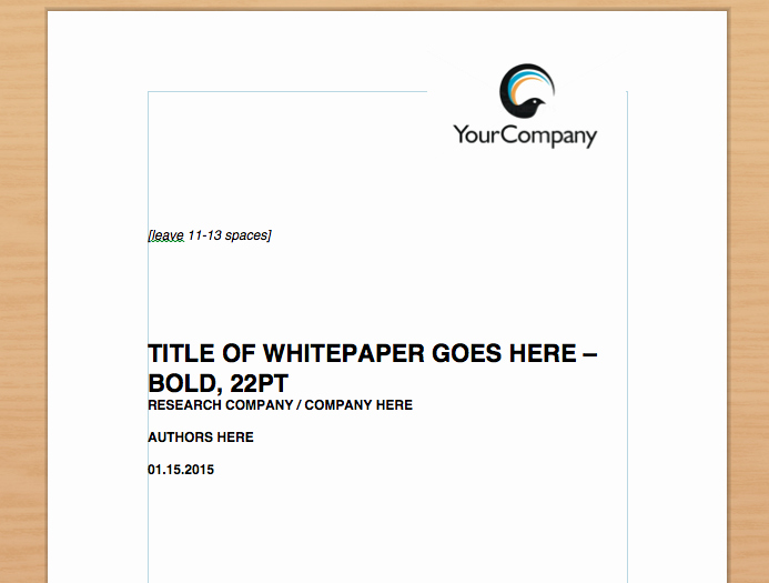 Free White Paper Template Word Elegant Simple Whitepaper Template [free Download]