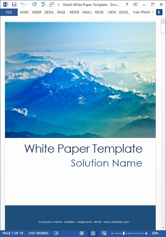 Free White Paper Template Word Fresh White Papers – Ms Word Templates & Free Tutorials