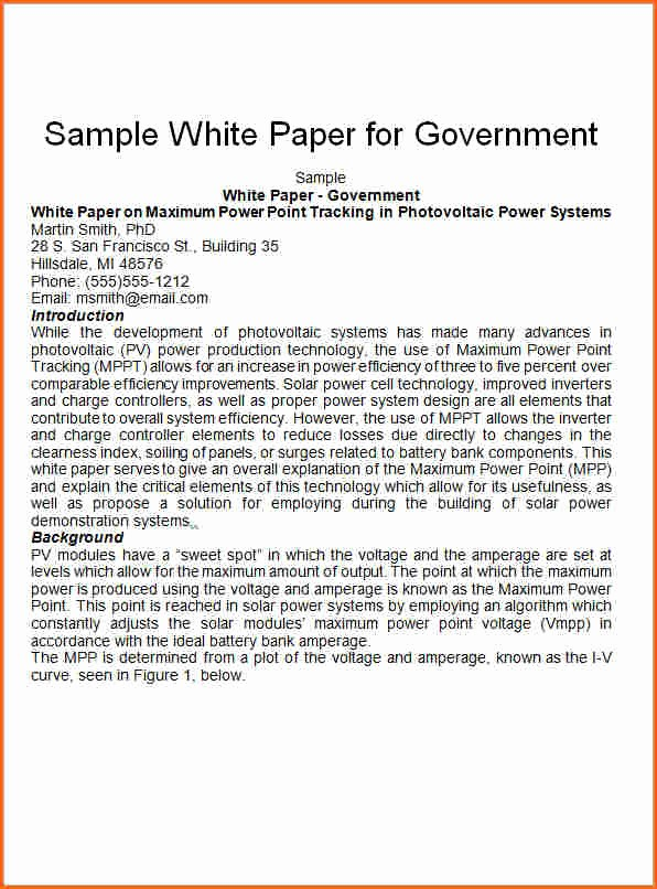 Free White Paper Template Word Lovely 7 White Paper format Template Bud Template Letter